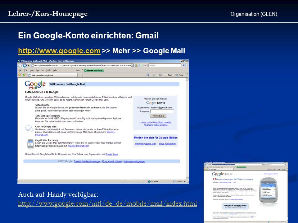 Ein Google-Konto einrichten: Gmail