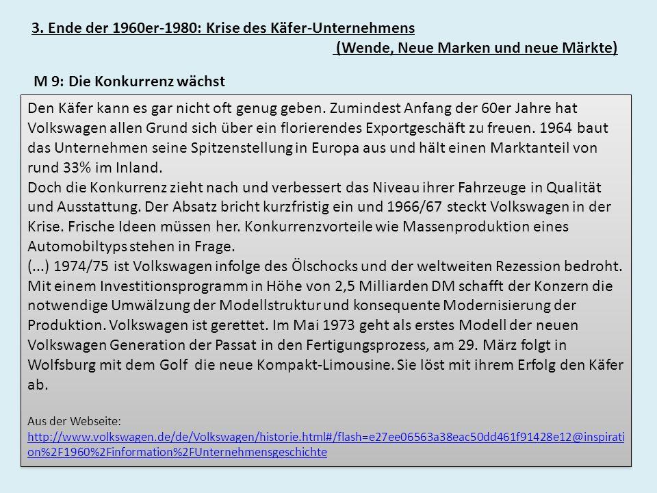 3. Ende der 1960er-1980: Krise des Käfer-Unternehmens