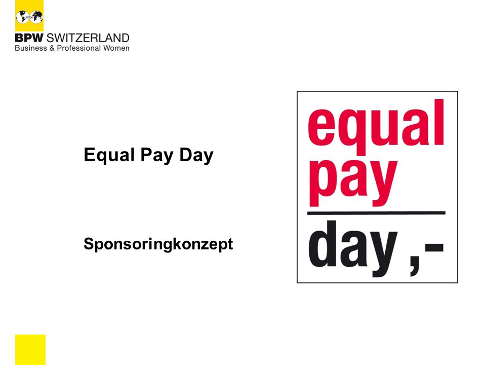 Equal Pay Day Sponsoringkonzept 1