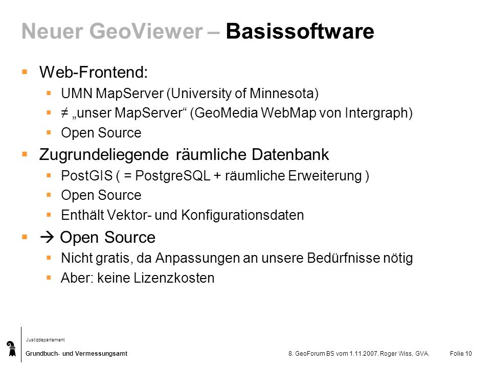Neuer GeoViewer – Basissoftware