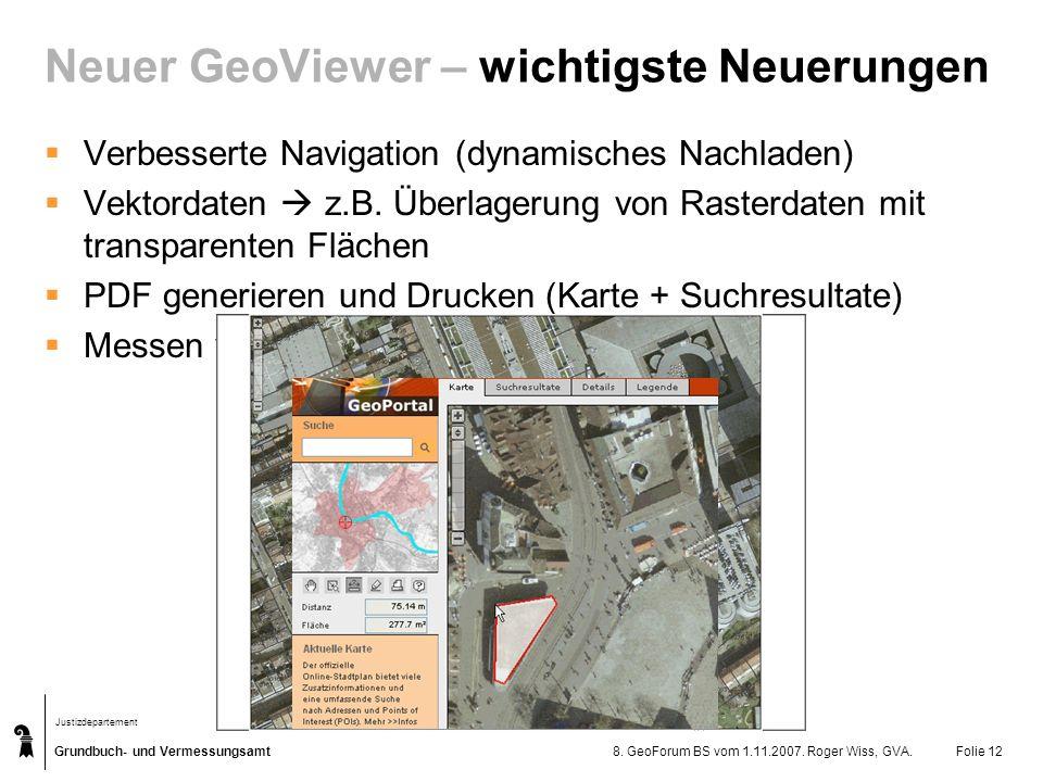 Neuer GeoViewer – wichtigste Neuerungen