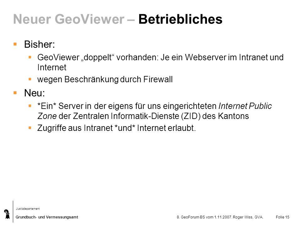 Neuer GeoViewer – Betriebliches