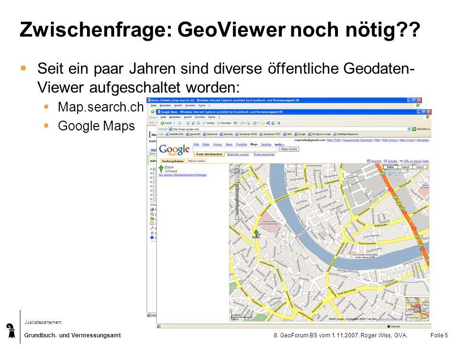 Zwischenfrage: GeoViewer noch nötig
