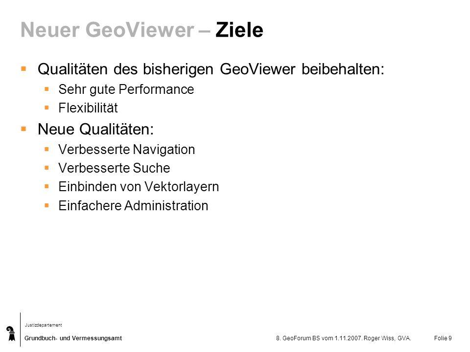 Neuer GeoViewer – Ziele