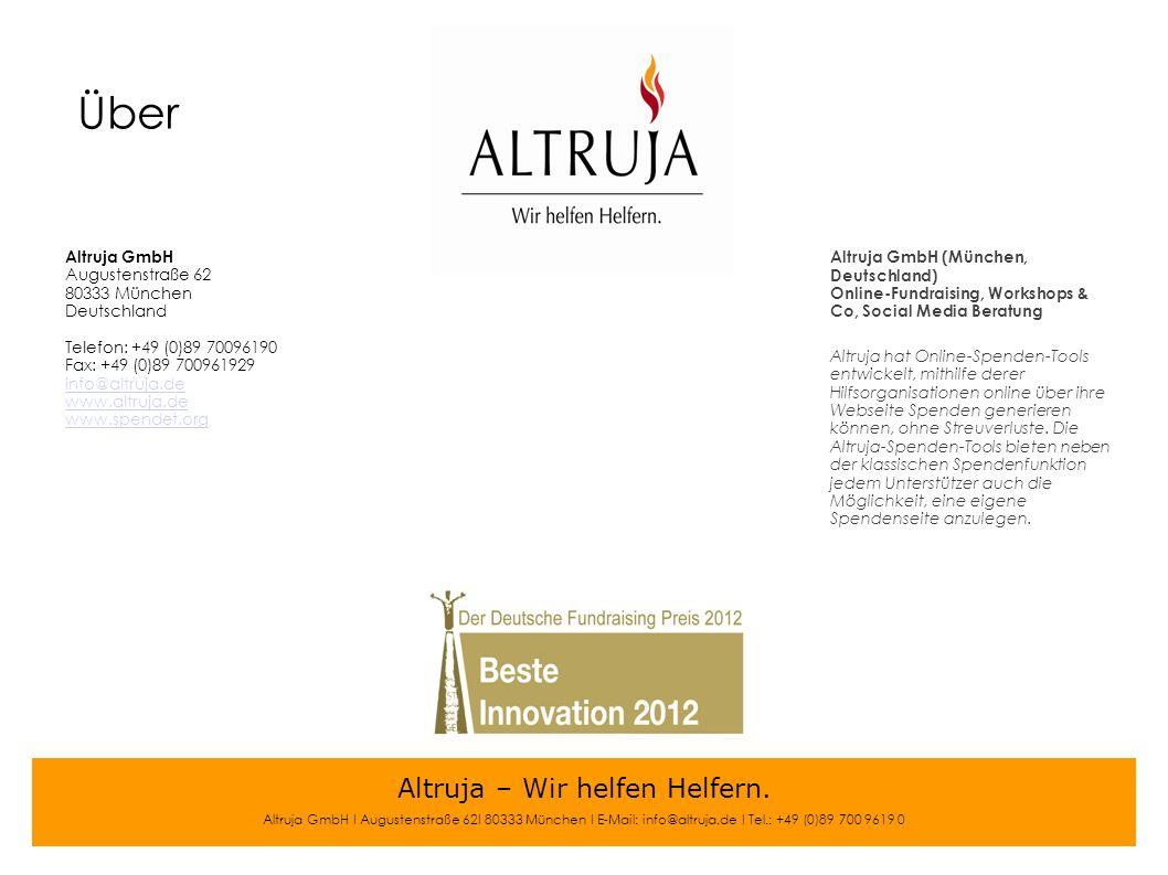 Altruja – Wir helfen Helfern.