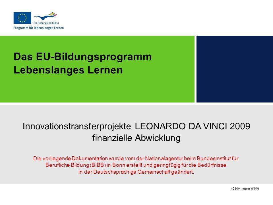 Das EU-Bildungsprogramm Lebenslanges Lernen