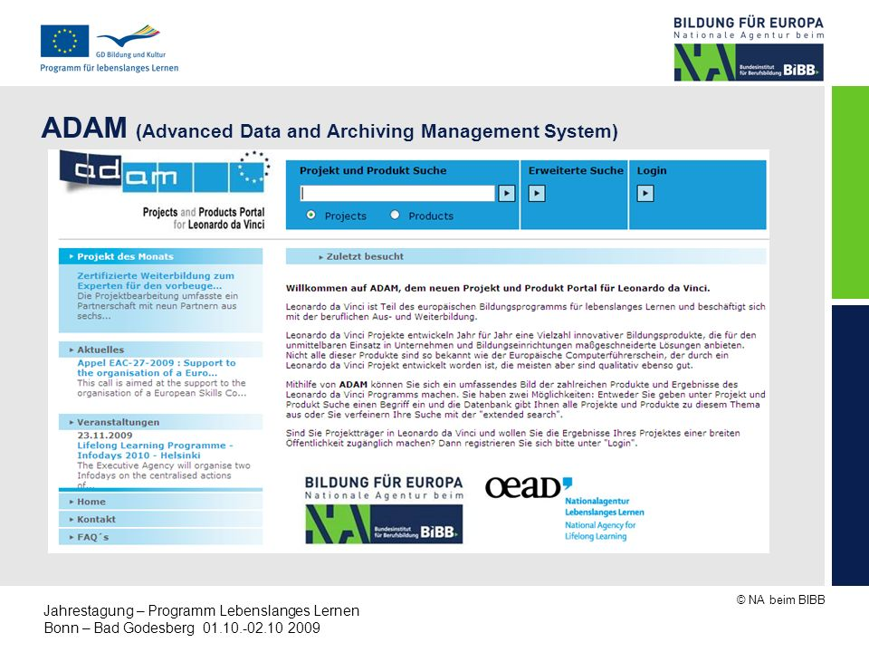 ADAM (Advanced Data and Archiving Management System)