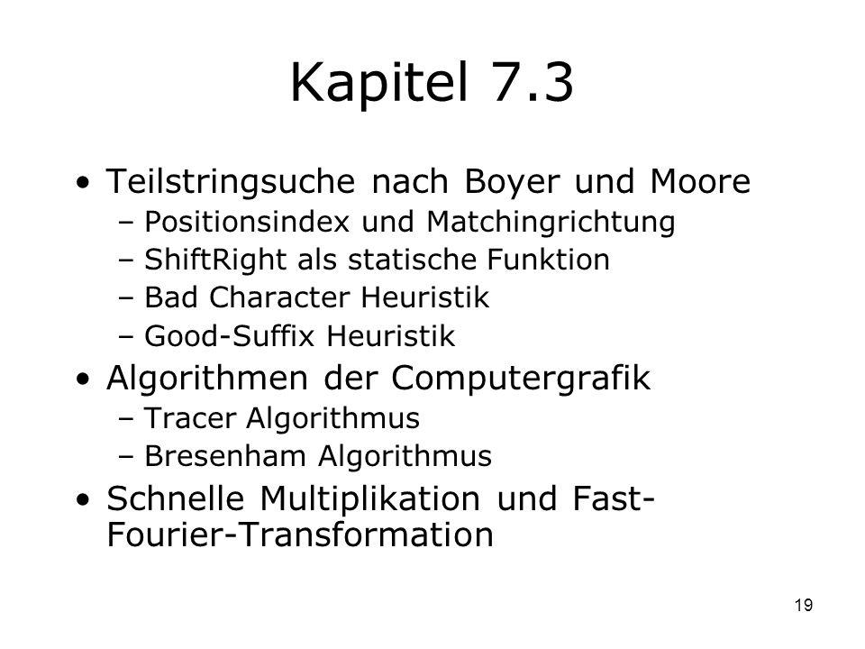 Kapitel 7.3 Teilstringsuche nach Boyer und Moore