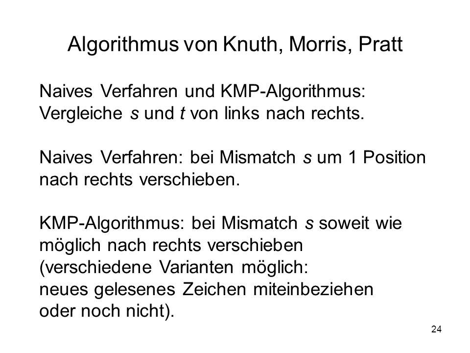 Algorithmus von Knuth, Morris, Pratt