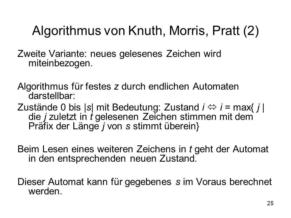 Algorithmus von Knuth, Morris, Pratt (2)