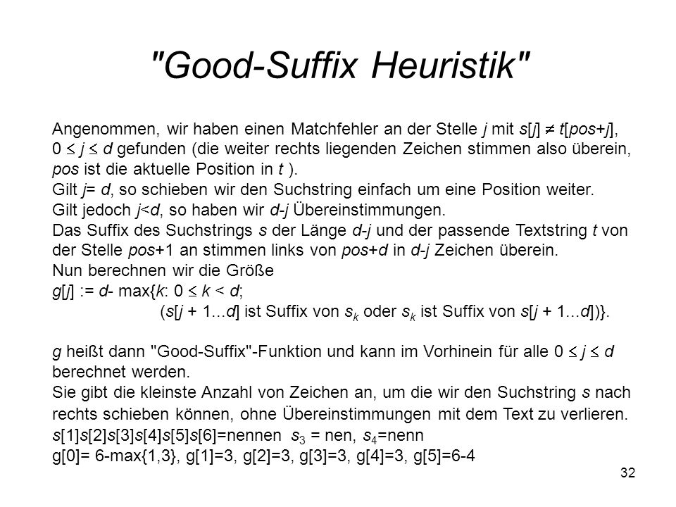 Good-Suffix Heuristik