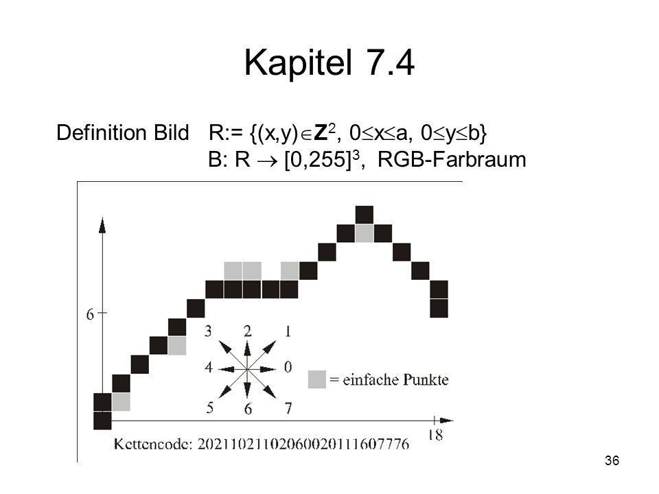 Kapitel 7.4 Definition Bild R:= {(x,y)Z2, 0xa, 0yb}