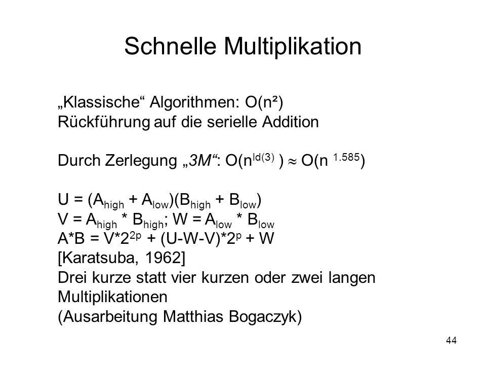 Schnelle Multiplikation