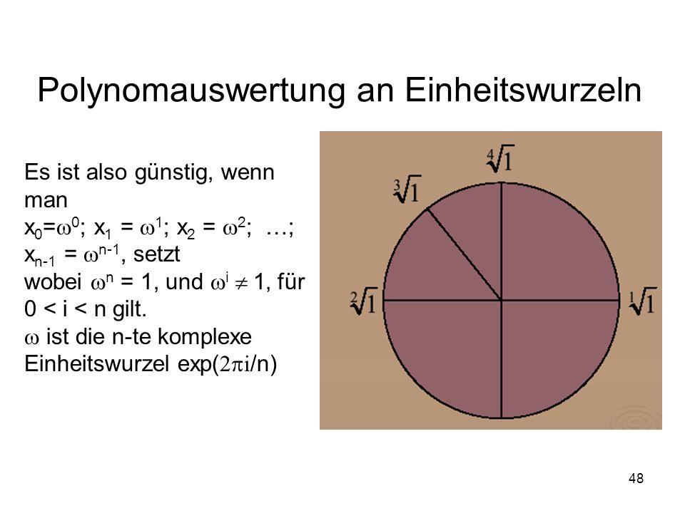 Polynomauswertung an Einheitswurzeln