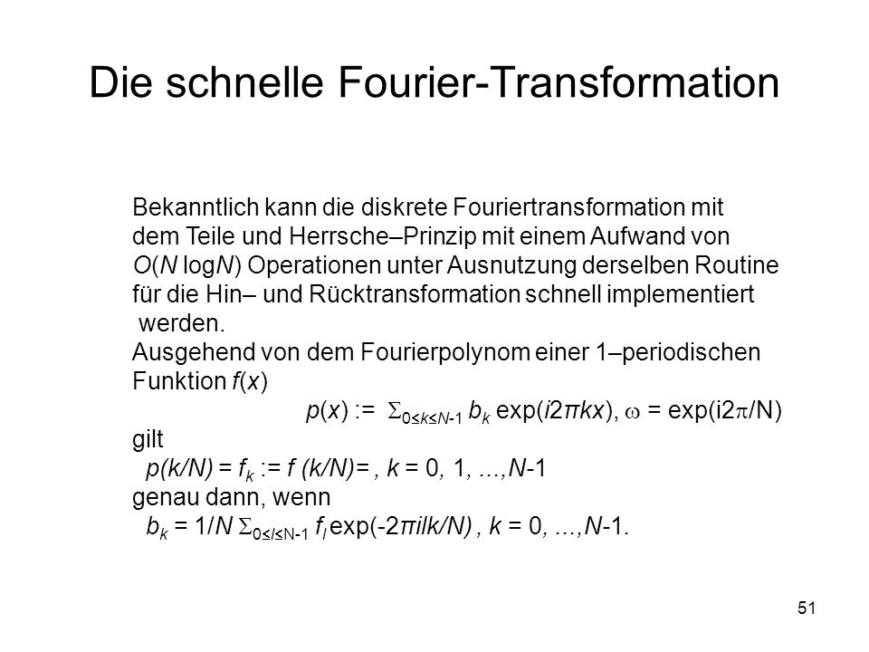 Die schnelle Fourier-Transformation