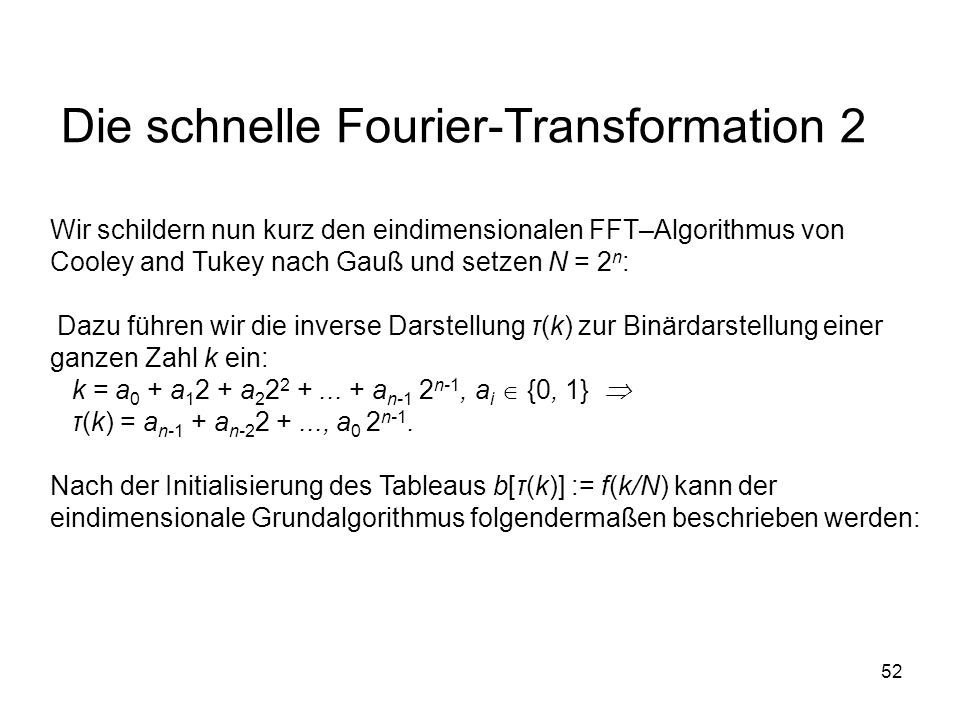 Die schnelle Fourier-Transformation 2