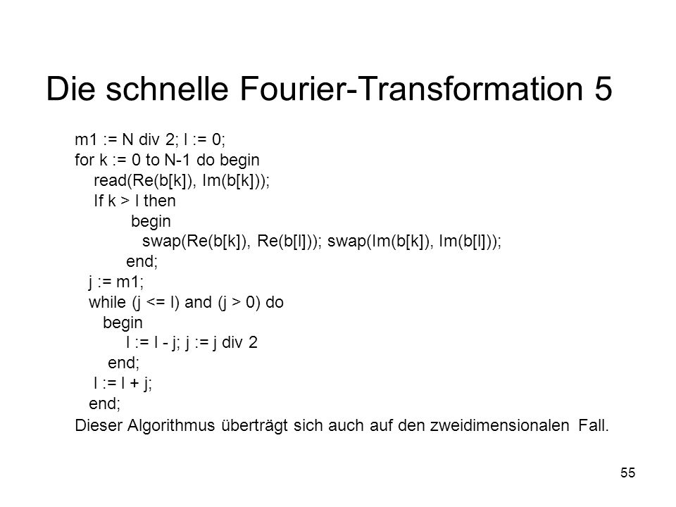 Die schnelle Fourier-Transformation 5