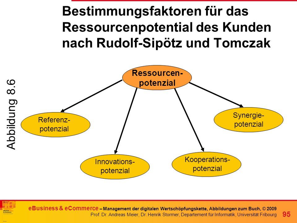 Bestimmungsfaktoren für das Ressourcenpotential des Kunden nach Rudolf-Sipötz und Tomczak
