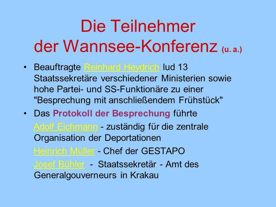 Die Teilnehmer der Wannsee-Konferenz (u. a.)