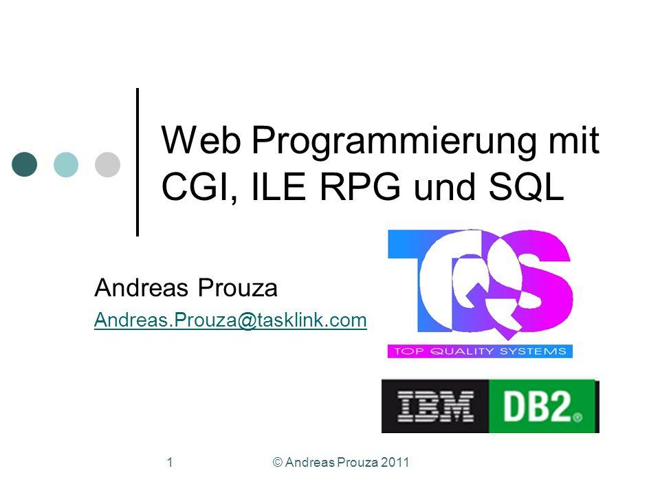Web Programmierung mit CGI, ILE RPG und SQL