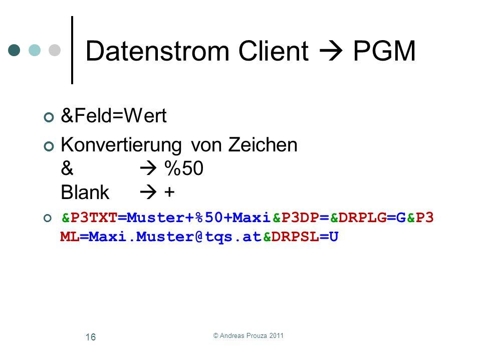 Datenstrom Client  PGM