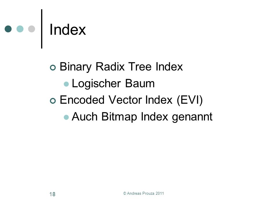 Index Binary Radix Tree Index Logischer Baum