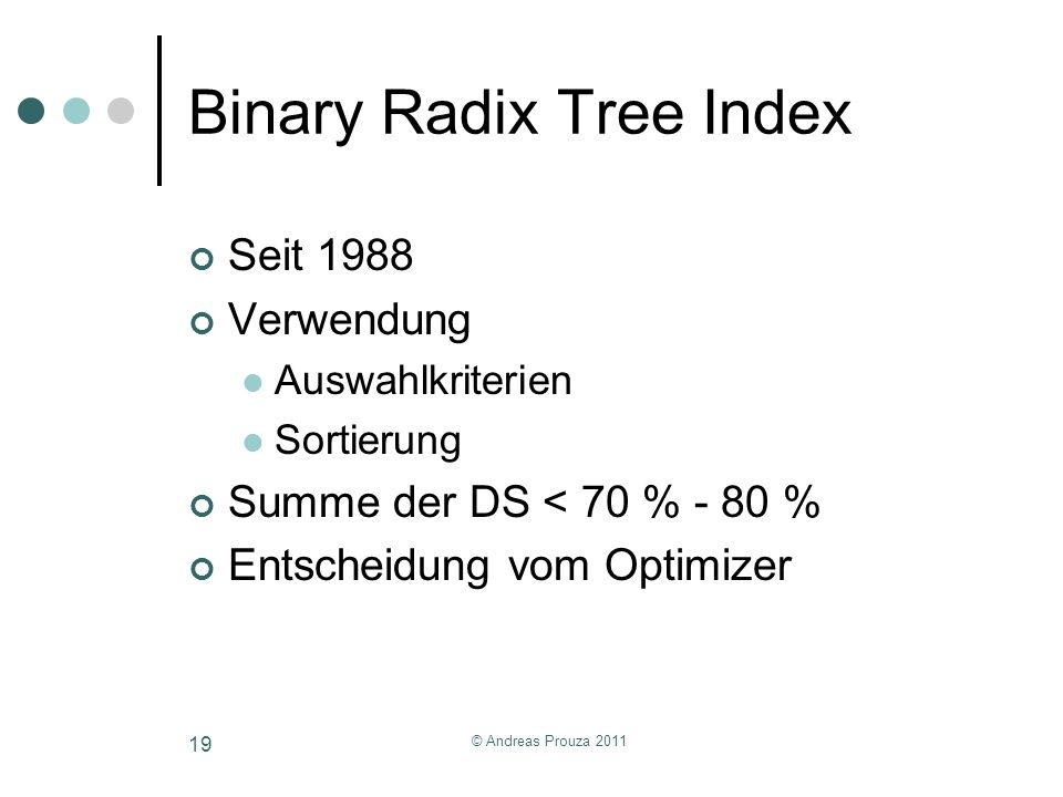 Binary Radix Tree Index
