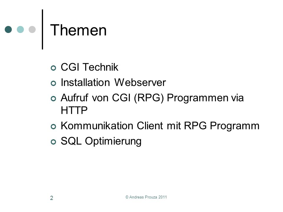 Themen CGI Technik Installation Webserver