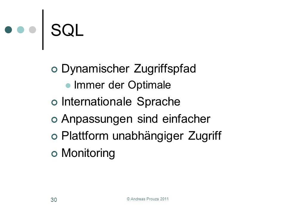 SQL Dynamischer Zugriffspfad Internationale Sprache