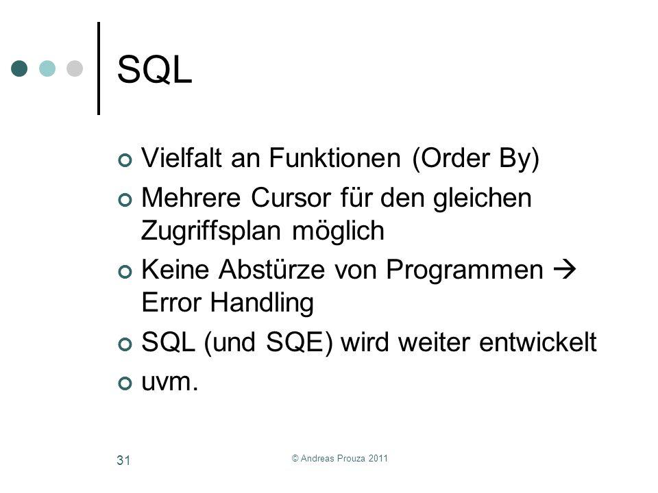 SQL Vielfalt an Funktionen (Order By)