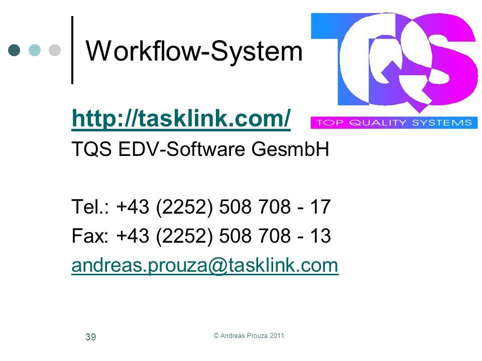 Workflow-System http://tasklink.com/ TQS EDV-Software GesmbH