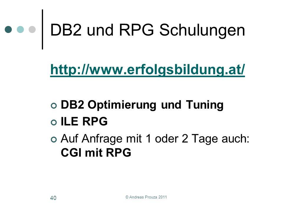 DB2 und RPG Schulungen http://www.erfolgsbildung.at/