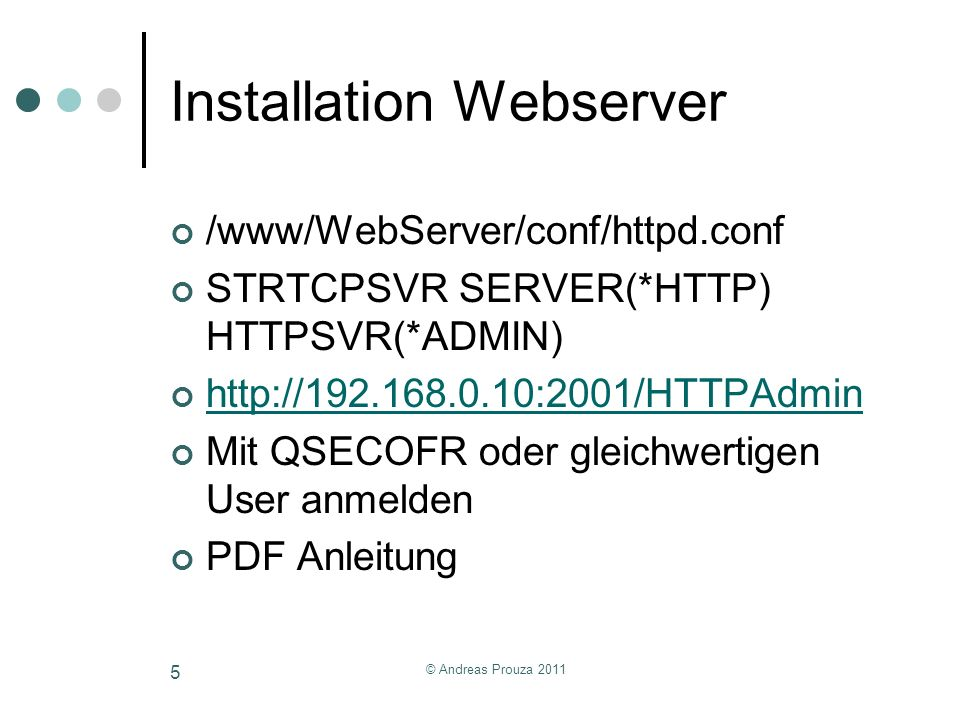 Installation Webserver