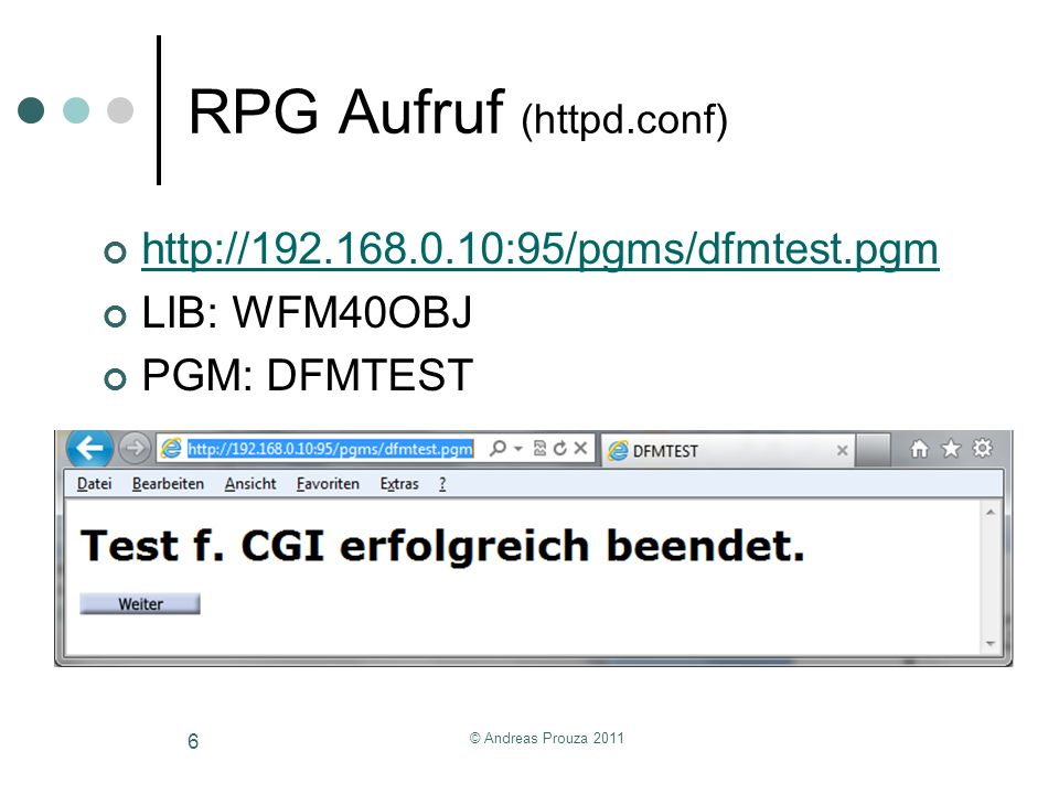RPG Aufruf (httpd.conf)