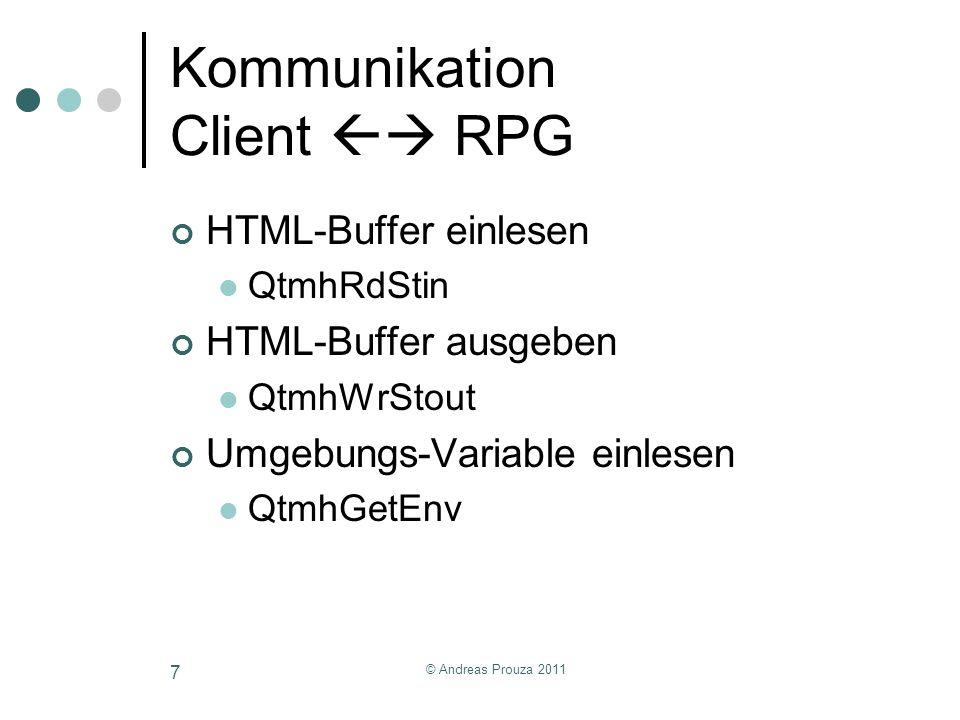 Kommunikation Client  RPG