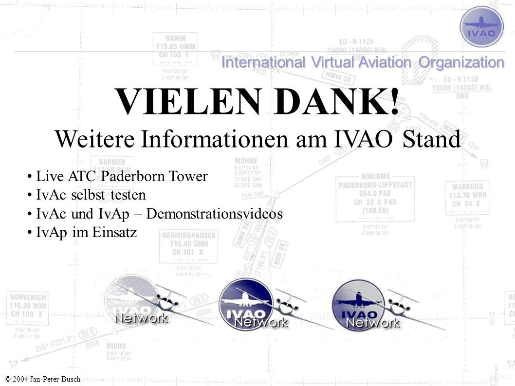 Weitere Informationen am IVAO Stand