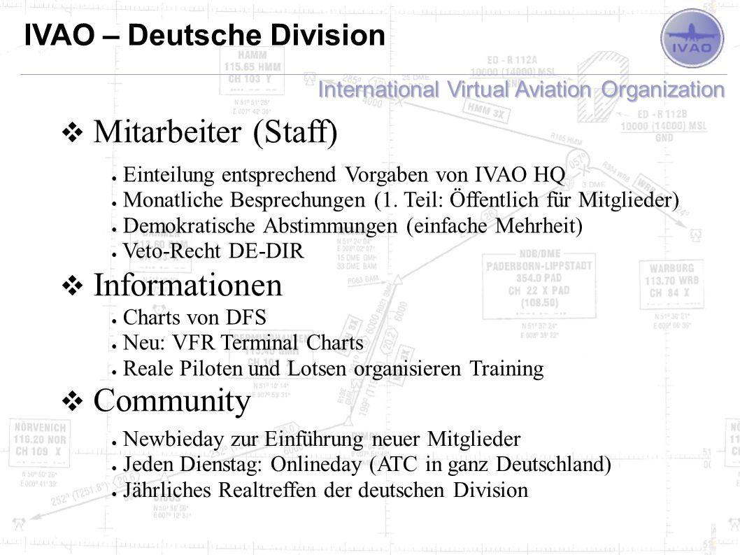 Mitarbeiter (Staff) Informationen Community IVAO – Deutsche Division