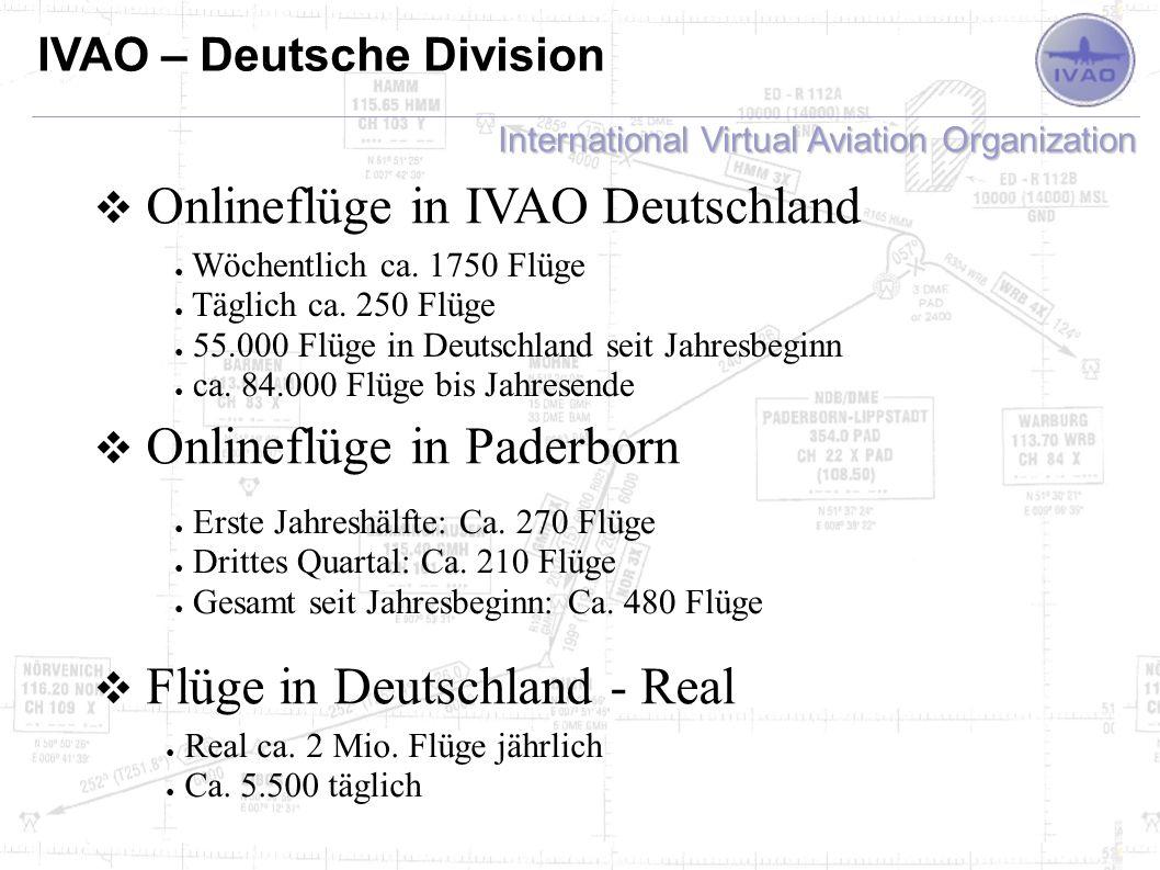 Onlineflüge in IVAO Deutschland