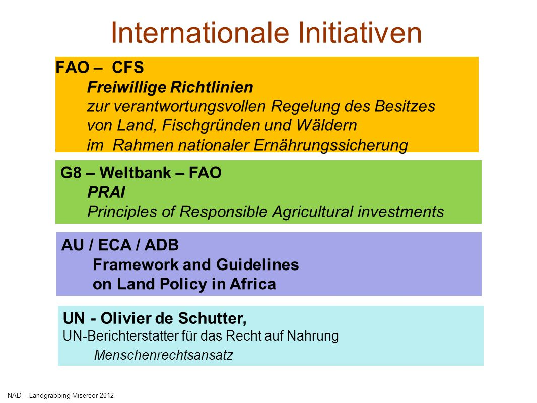 Internationale Initiativen