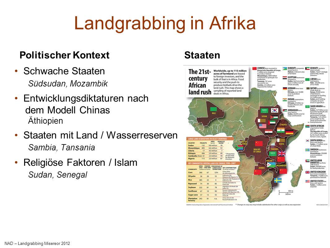 Landgrabbing in Afrika