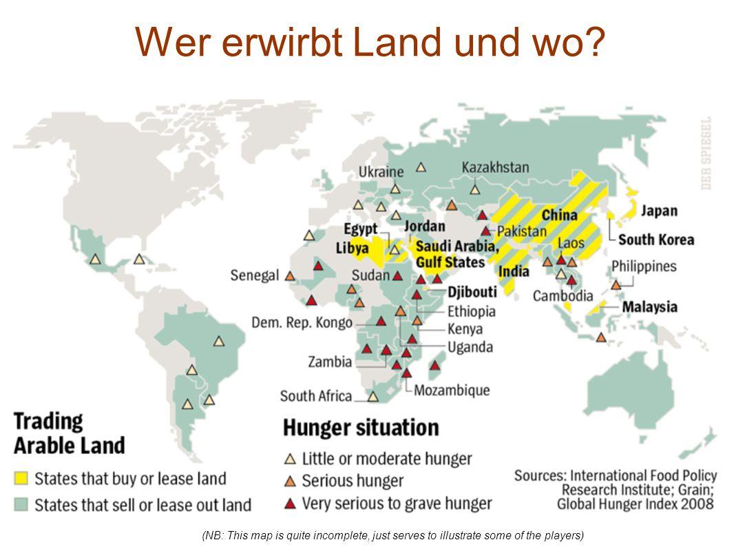 Wer erwirbt Land und wo.