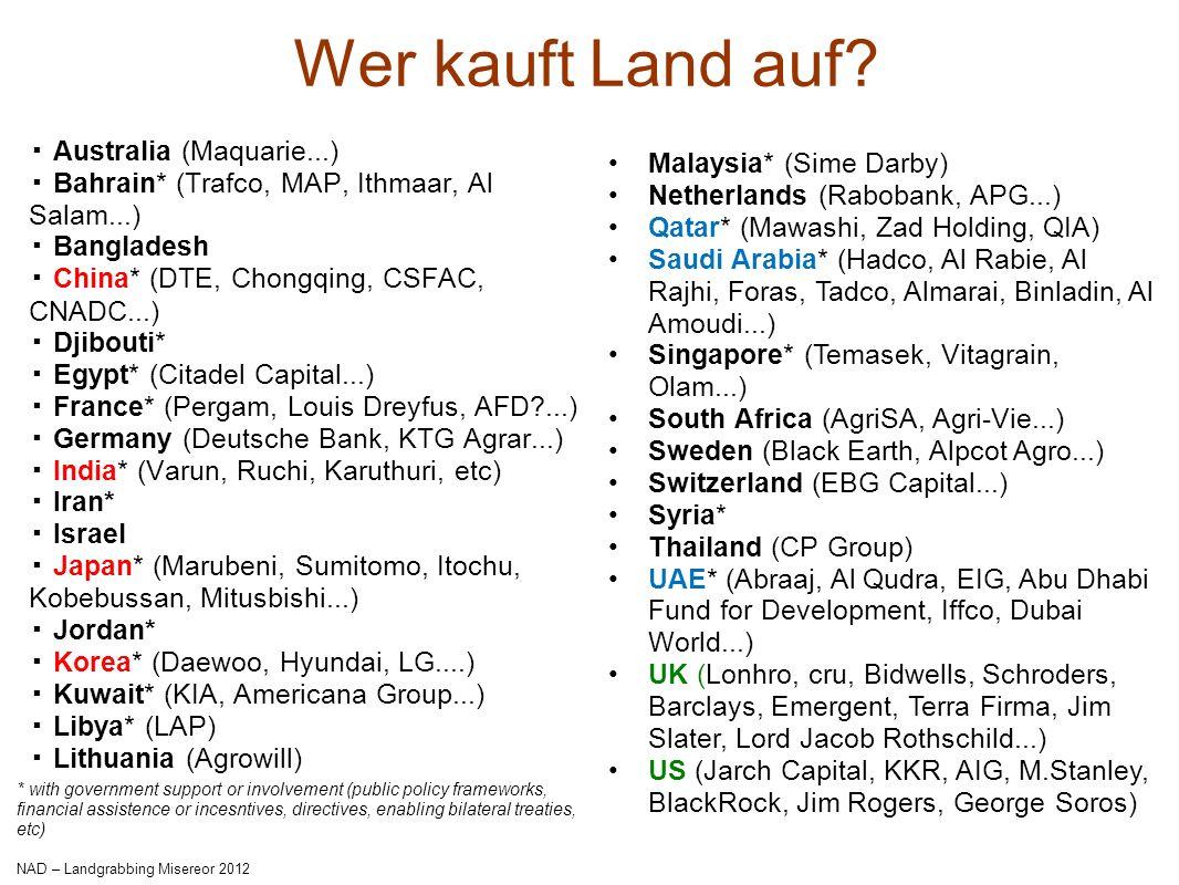 Wer kauft Land auf ▪ Australia (Maquarie...) Malaysia* (Sime Darby)