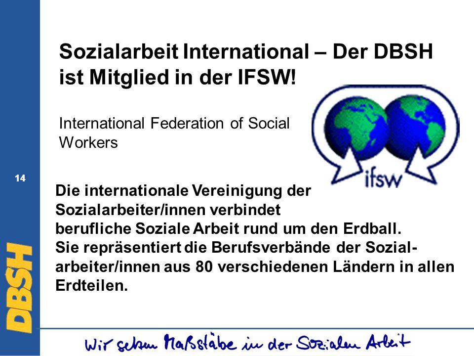 Sozialarbeit International – Der DBSH ist Mitglied in der IFSW!