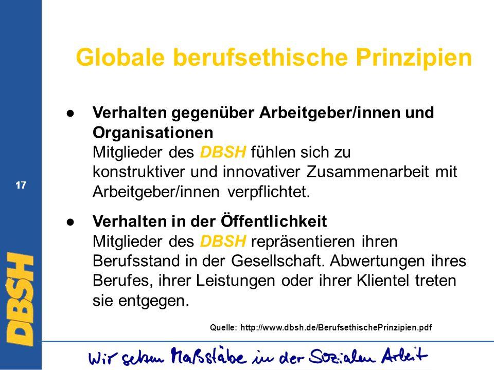 Globale berufsethische Prinzipien