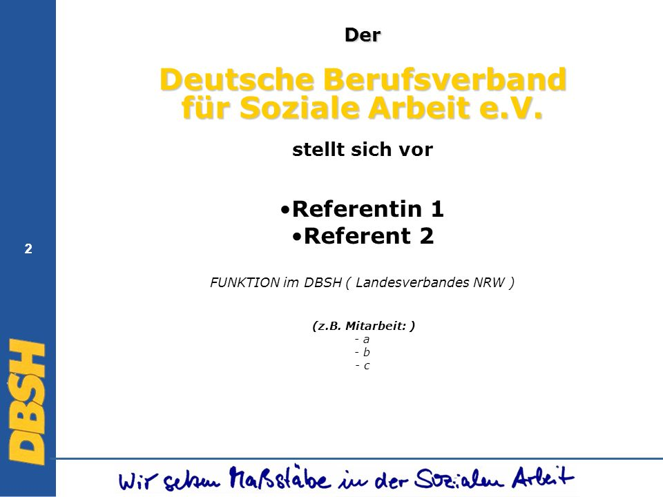Deutsche Berufsverband für Soziale Arbeit e.V.