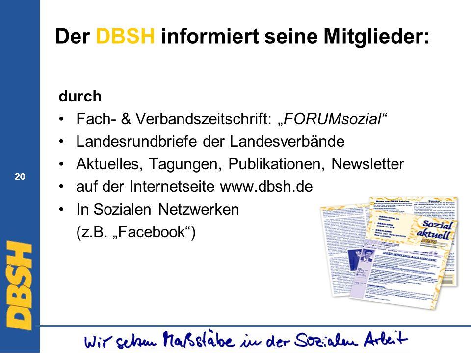 Der DBSH informiert seine Mitglieder:
