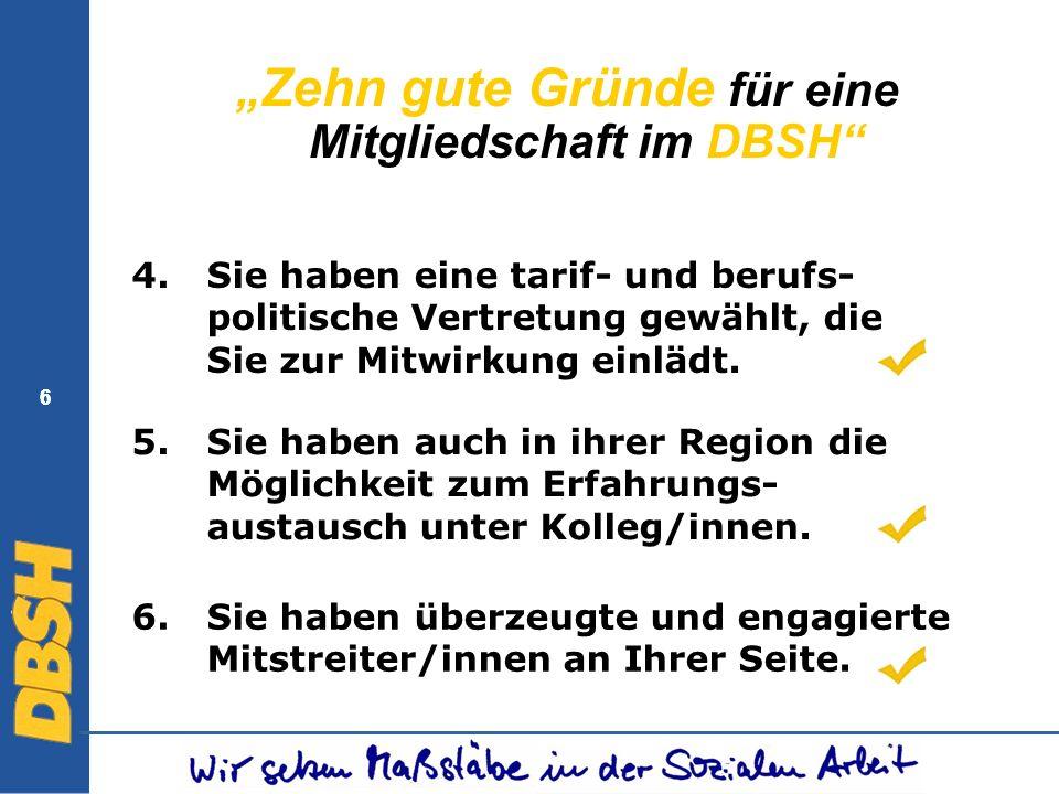 """""""Zehn gute Gründe für eine Mitgliedschaft im DBSH"""