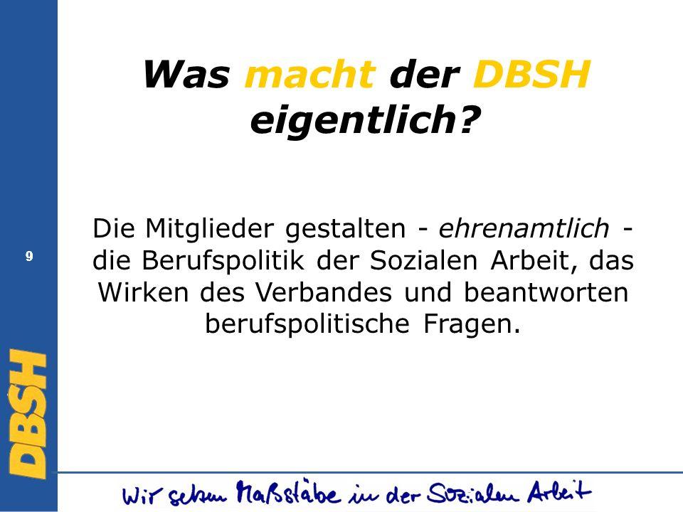 Was macht der DBSH eigentlich