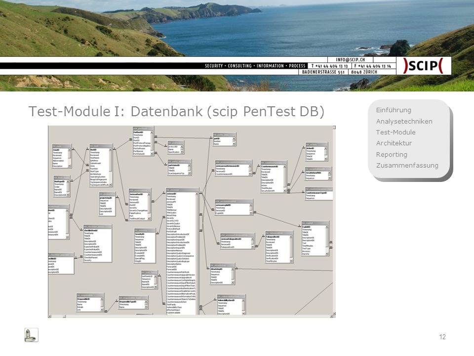 Test-Module I: Datenbank (scip PenTest DB)
