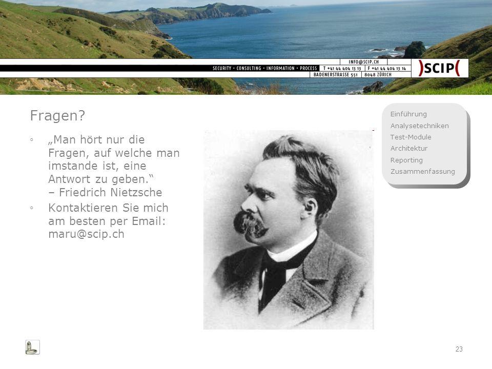 """Fragen """"Man hört nur die Fragen, auf welche man imstande ist, eine Antwort zu geben. – Friedrich Nietzsche."""